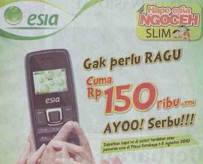 Hape Esia Ngoceh Slim 150,000 Rupiah Exhibition at Plaza Surabaya On August