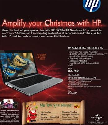 Harga Notebook HP G42-361TX dan HP G42-360TX