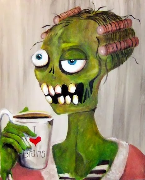 Good Morning Zombie Meme : Liz adeles spooky art zombie fun