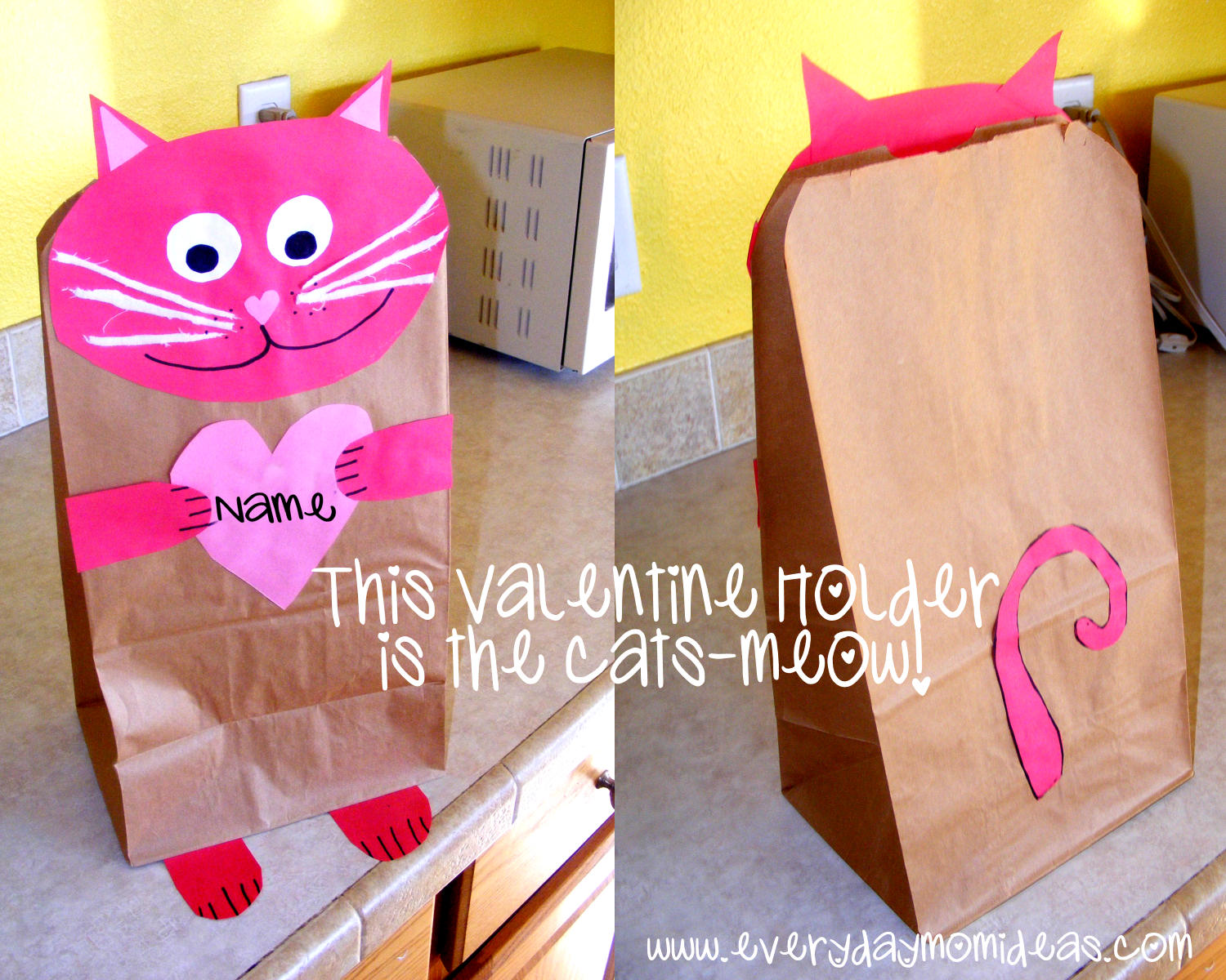 forget the valentine box we made this easy valentine holder with some crate paper and a brown paper bag - Valentines Bags Ideas