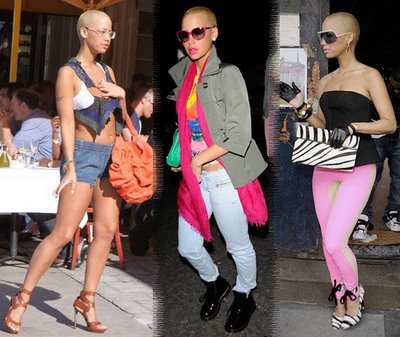 pictures of amber rose with hair