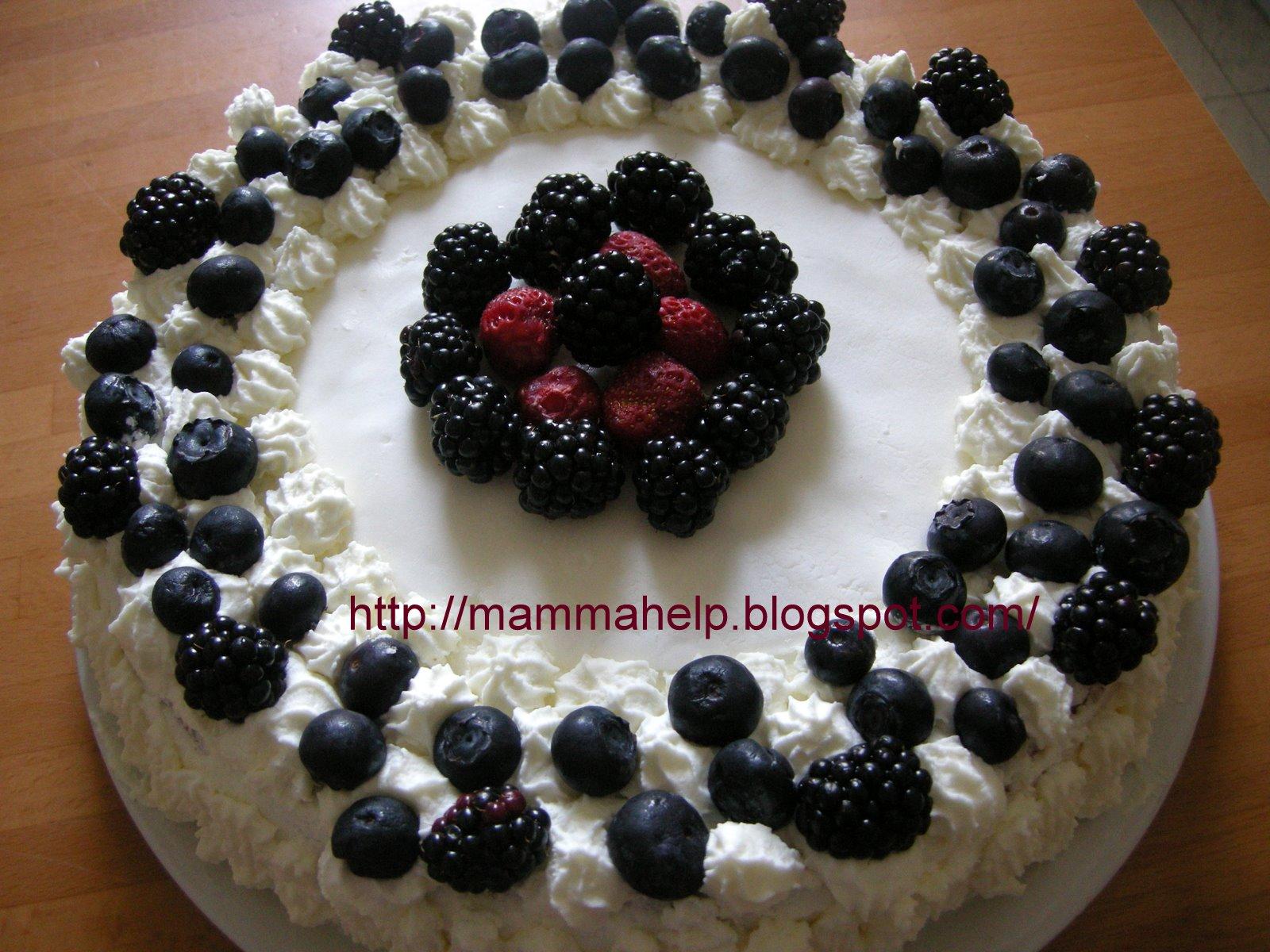 Come si fa a come si fa torta panna e frutti di for Decorazioni torte frutta e panna