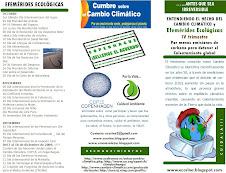1er Tríptico Informativo sobre las Efemérides Ecológicas y Cambio Climático