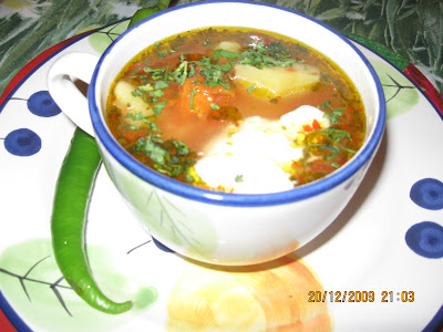Articole culinare : Ciorba de cartofi acrita cu zeama de varza