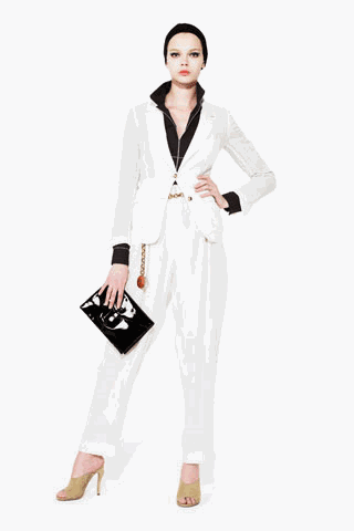 [ysl+white+business+outfit]