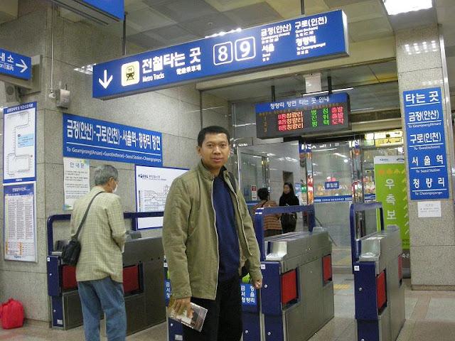 Di Dalam Kereta Subway Seoul
