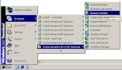 1 login to business modeller of your spectrum if you have multiple demantra installations you will be seeing multiple spectrum choose the appropriate