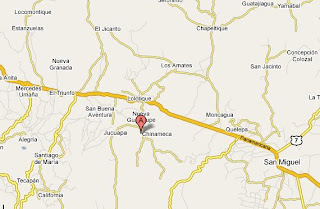 Mapa de carretera panamericana de el salvador