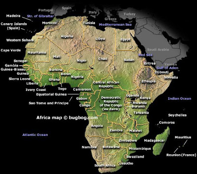 labeled map of africa with capitals. +africa+map+with+capitals