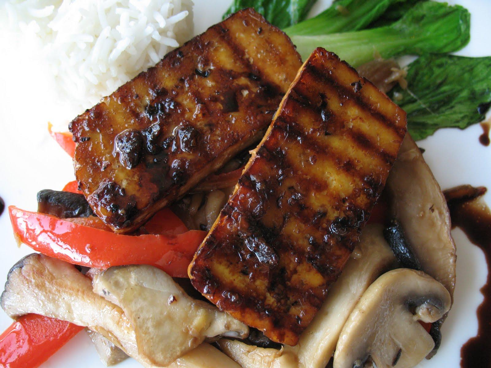 Anna's Table: Grilled Tofu Teriyaki and Mushroom Medley