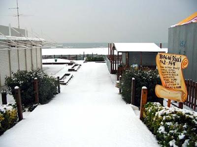Intervallo: Rimini, Bagni Ricci in inverno