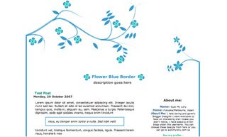 Redbloodsnow's Stuffs - Blue Flower Template