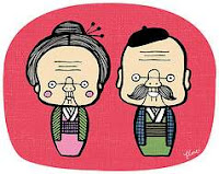 Redbloodsnow's Cute Cartoon Graphics© - Grandma + Grandpa