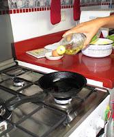 cocinando con aceite