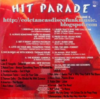 coletaneas disco funk music: HIT PARADE 6 - 1983