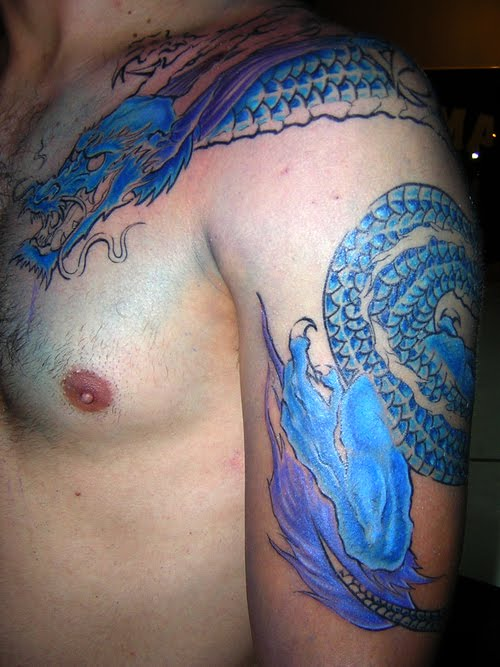 dragon tattoo on sleeve