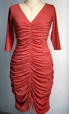 Elegant Pleated Rose Dress