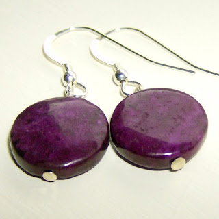 Purple Nevada Jasper Earrings
