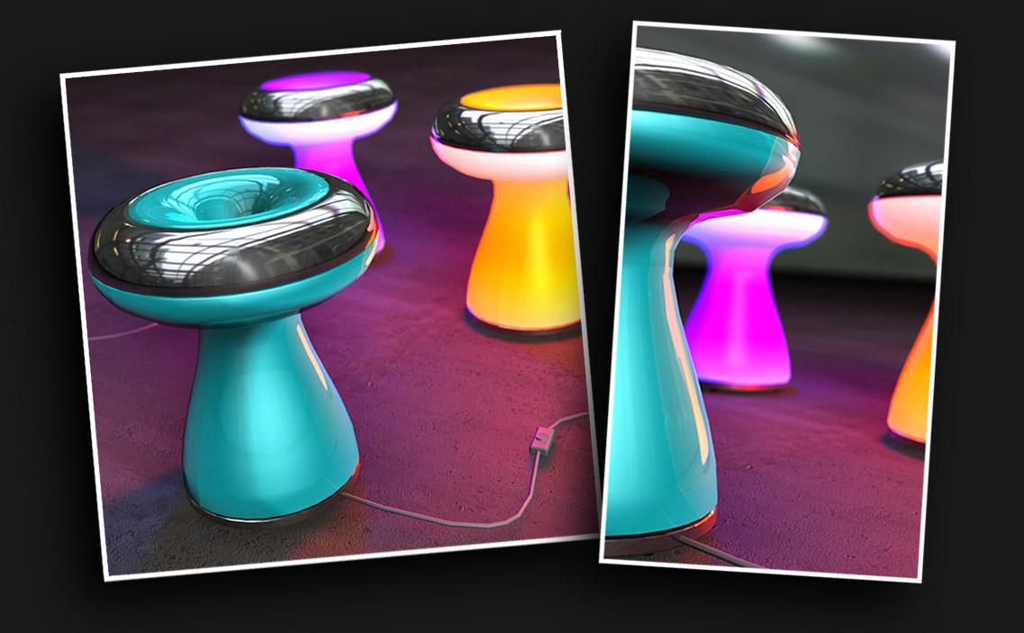Funghi - lampara de mesa (concurso paolini)