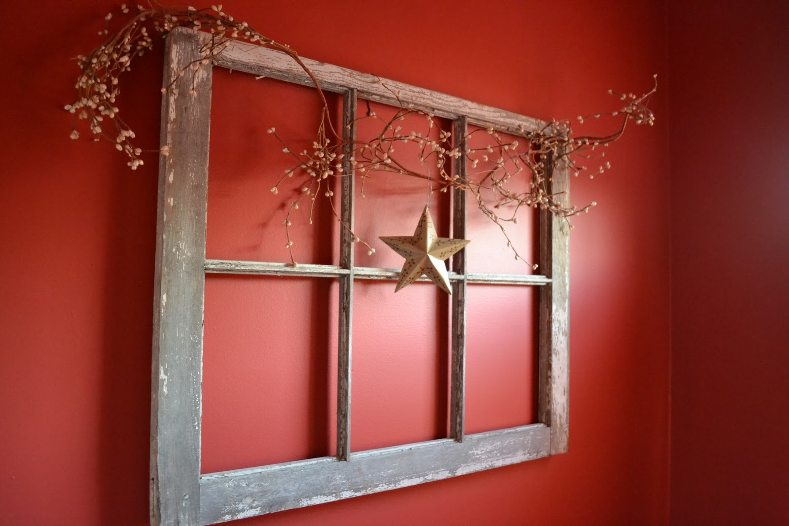 Thrifty decorating old windows as wall decor for Window design on wall