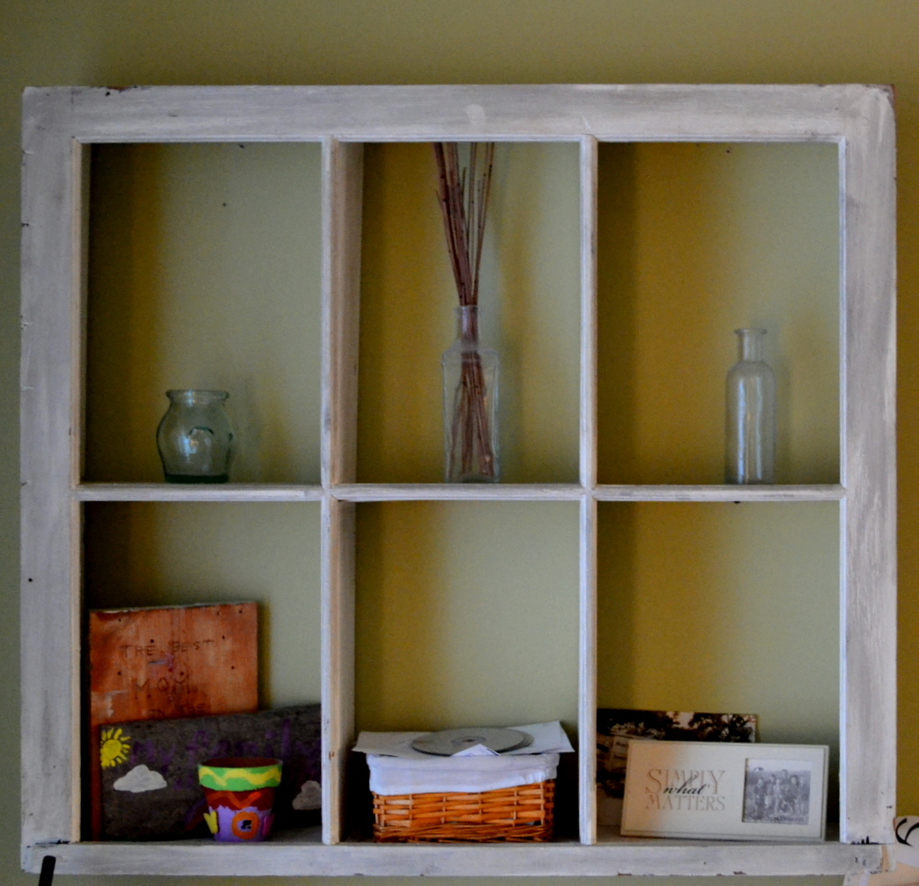 Thrifty decorating using old windows as storage solutions for Ideas for old windows pictures