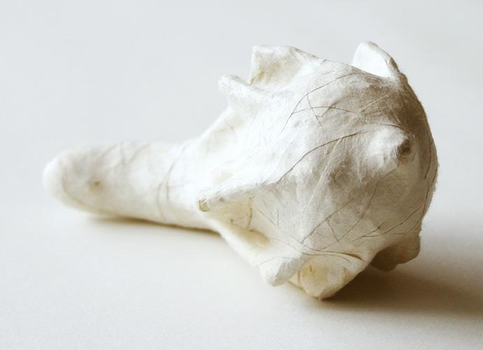 Crown, 2007. dried gourd & paper. 6.4 x 12.7 cm