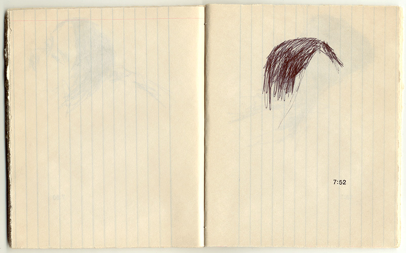 Monna, 2000. pen & rub-on letters on paper. 15.7 x 13.3 cm
