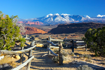 View of the La Sal Mountains, Utah
