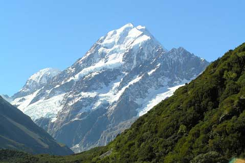 New Zealand's Southern Alps have a number of glaciers, the largest being