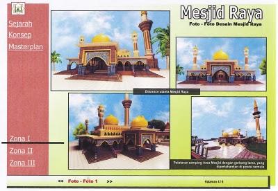 Masjid Raya Pekanbaru Sebelum di Revitalisasi