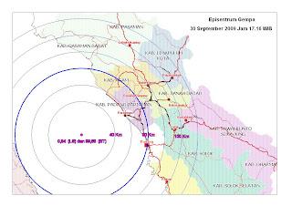 Episentrum Gempa Sumbar Padang Pariaman