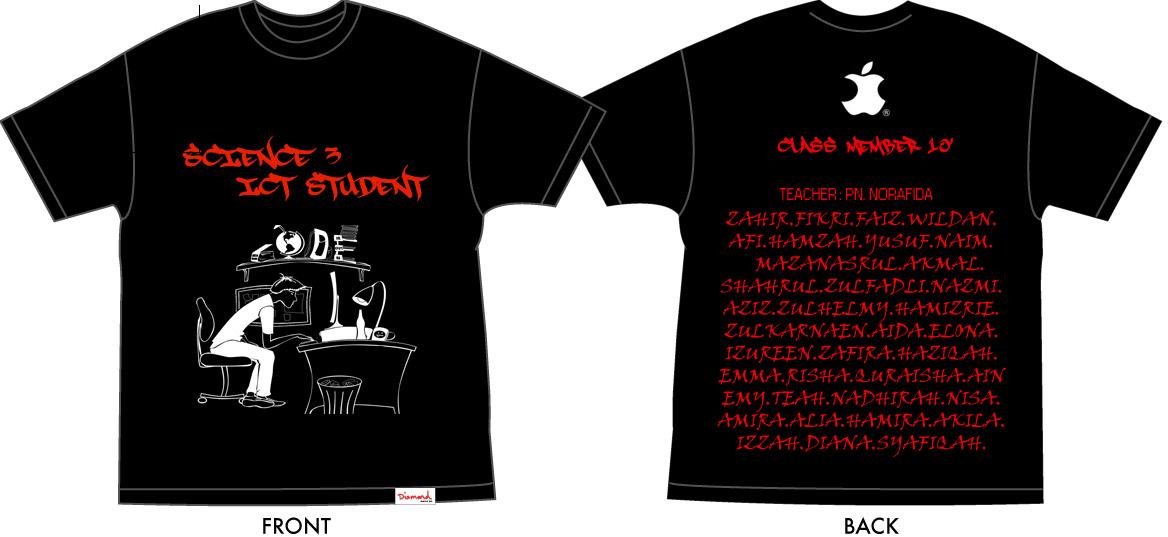 huhuhu akhirnya siap juga design tshirt kelas payah juga nk design ...