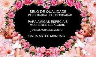 Selinho que ganhei da amiga Catia Artes Manuais.