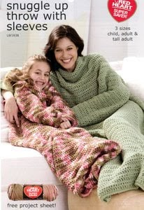 MoniRose Crochets: Crochet Snuggle Up Throw with Sleeves