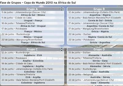 Tabela copa 2010, Copa do Mundo 2010, Tabela, jogos, times, nações, nacionalidades, jogadores, táticas, estratégias
