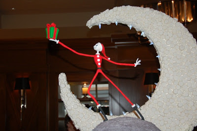 arguably the most obscure movie chosen for the gingerbread village was the nightmare before christmas including jolly old jack seen on 23 december 2009 - Nightmare Before Christmas Gingerbread House