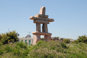 This inukshuk was located at the west end of Ontario Place in the public . (toronto ontarioplaceinukshuk)