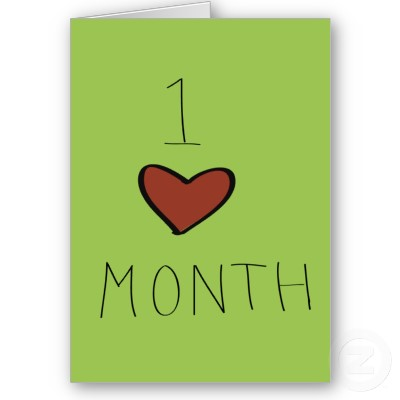 one month dating anniversary cards