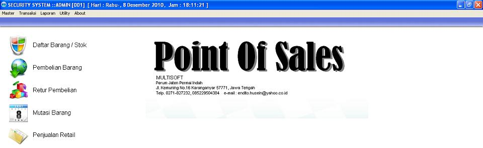 POS - Point Of Sales - Program Kasir
