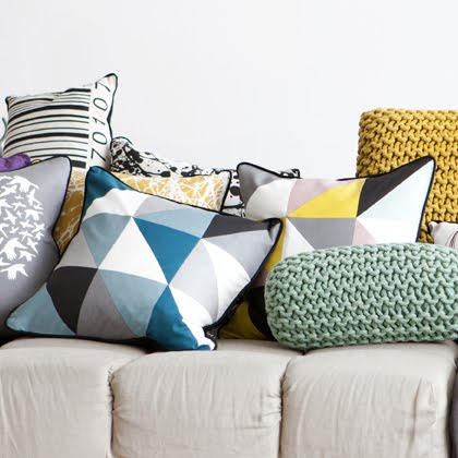favourite things by ferm living remix cushions. Black Bedroom Furniture Sets. Home Design Ideas