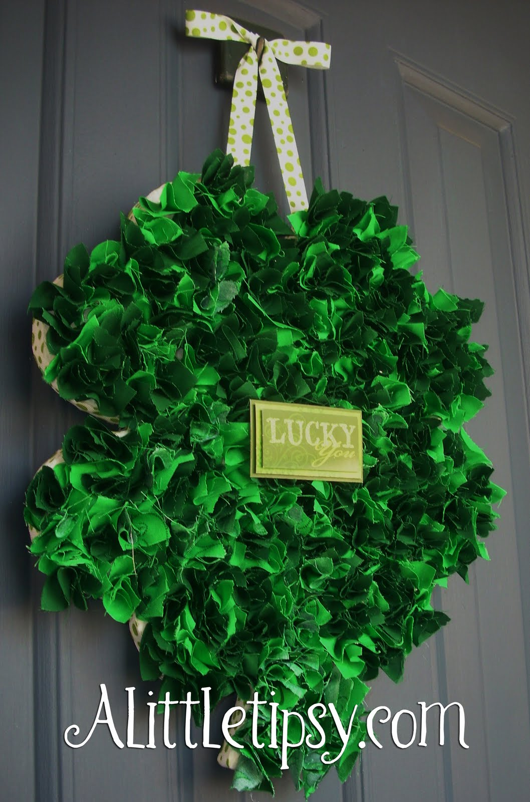 Fabric Shamrock Wreath
