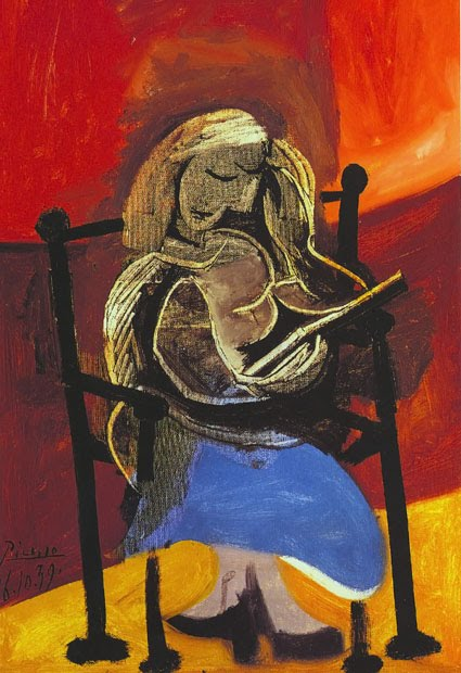 Pablo Picasso Woman Reading Book