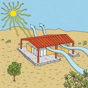* Desert home