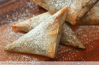 Chocolate Phyllo Triangles with Cream Cheese and Nut Stuffed Dry ...
