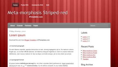 Meta morphosis striped red