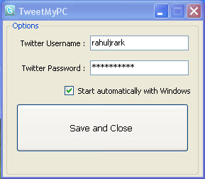 Tweet My PC