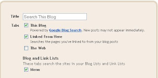 Blogger Search Box