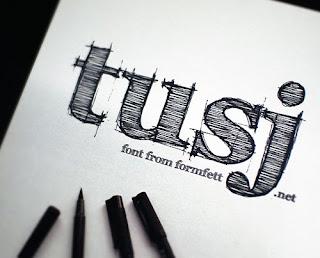 Hand Drawn Fonts-FFF Tusj