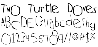 Hand Drawn Fonts-Two Turtle Doves