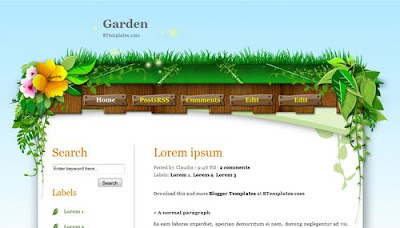 best blogger templates-Garden